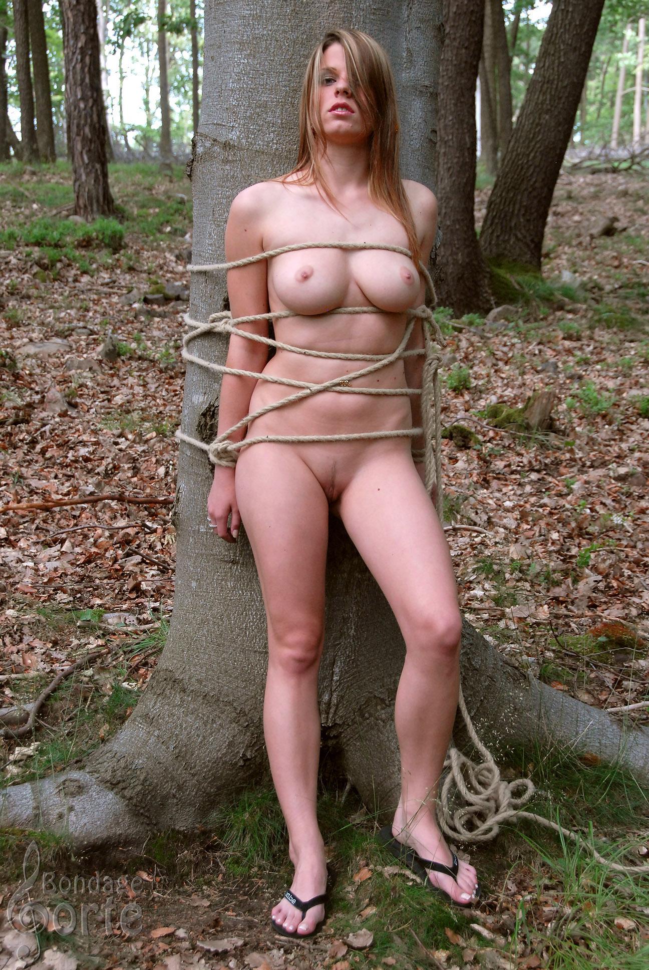 Связали голая девушка